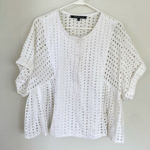 Timo Weiland 10 White Eyelet Babydoll Top